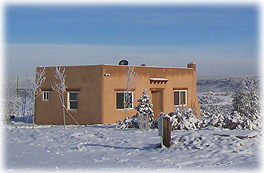 Casita on a New Mexico winter day.