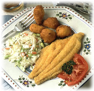 Catfish, fried to perfection, a favorite dish in the Southwest.