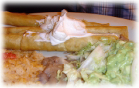 A plate of tempting flautas is a normal part of New Mexico eating.